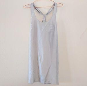 J. Crew Light Silver Silk Sleeveless Tunic